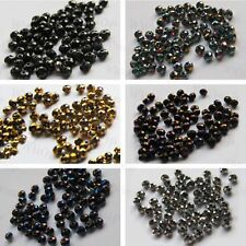Color plating 5040 Roundelle Crystal Glass Loose Beads 3mm 4mm 6mm 8mm