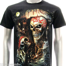 sc18 M L XL XXL XXXL Survivor Chang 3D T-shirt Tattoo Glow in Dark STUD Skull
