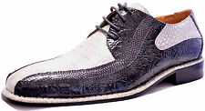 New men's shoes lace up style dress formal croco print gray charcoal US sizes
