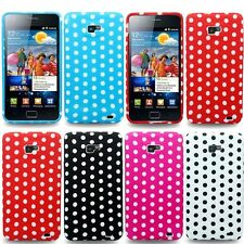 For Samsung Galaxy S2 i9100 Bargain Polka Dots Soft Gel Mobile Phone Case Cover