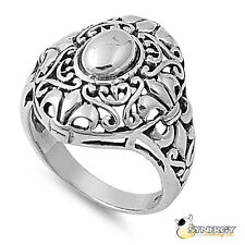 Sterling Silver Bali Design Fleur de lis Ring Available in Sizes 5 6 7 8 9 10