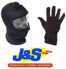 J&S BALACLAVA & INNER GLOVES MOTORCYCLE SKIING WALKING MOTORBIKE SCOOTER ATV