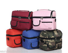 Picnic lunch bag insulated cooler bag multi-function outdoor two compartments