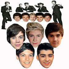 One Direction 5 Boys Celebrity Party Face Masks Hen Stagg Birthday Fancy Dress