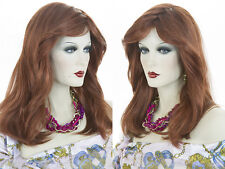 Long Medium Blonde Brunette Red Straight Lightly Layered Around The Face Wigs