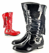 New Older Girls Kids Childrens Casual Fashion Boots Shoes Available UK Size 12-3