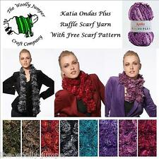 KATIA ROCIO PLUS RUFFLE LOOPY STYLE SCARF YARN - ONE BALL SCARF - FREE PATTERN