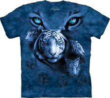The Mountain White Tiger Eyes T Shirt Tee Top Tiere Animals S - XXL   #3218 533