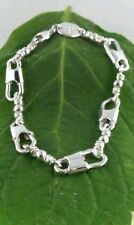 ACTS Bracelet Sterling Silver Fishers Of Men Bracelet HEAVY LINK !!!