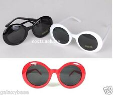 KURT COBAIN WHITE BLACK Alien Shades SUNGLASSES Nirvana Thick Frame GLASSES