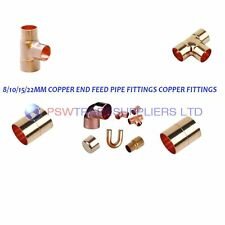8mm/10mm/15mm COPPER END FEED PIPE FITTINGS COPPER FITTINGS..