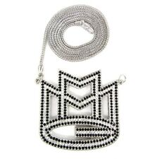 "ICED OUT MAYBACH MMG PENDANT w/ 30"" & 36"" NECKLACE RICK ROSS CHAIN  HIP HOP CZ"