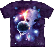 NEW ALIEN ORIGINS Gray Grey Planets Solar System Space The Mountain T Shirt