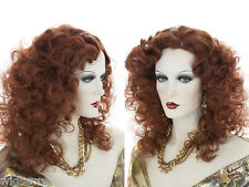 Gypcy Style Glamorous Medium Long Blonde Brunette Red Wavy Skin Top Layered Wigs