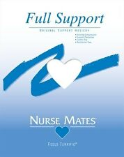 NURSE MATE NURSEMATE FULL SUPPORT STOCKING PANTY HOSE WHITE HOSIERY A B C D E EE