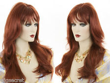 Long Blonde Grey Brunette Red Straight Wavy Center Skin Top Part With Bangs Wigs