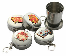 USSR Russian Badge Stainless Steel Travel Camping 2 Oz Collapsible Cup Shot