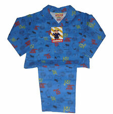 BOYS PYJAMAS FLANNEL FIREMAN SAM  1-5 YEARS OLD