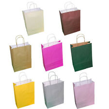Paper Carrier Party Gift Bags Twisted Handles 180 x 80 x 220mm Many Colours