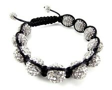 12MM ICED OUT DISCO BALL HIP HOP MACRAME BEADED BRACELET + GIFT BOX