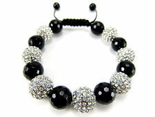 12MM ICED OUT DISCO BALL & MATTE HIP HOP CZ PAVE BEADED BRACELET