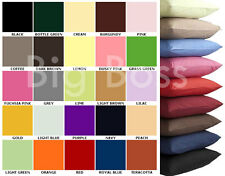 Single & Pair Of Plain Dyed Standard Pillow cases - In 26 Colours