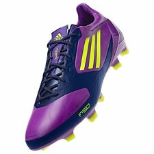 NEW Womens Sz 8 ADIDAS F50 ADIZERO TRX FG Purple Yellow Soccer Cleats Boots
