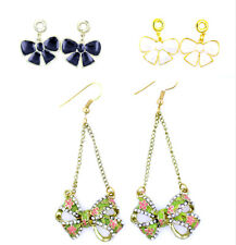 Super cute hanging bow charm earrings multiple choices
