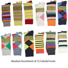 Mens Designer Fashion Dress Socks Stripes Color Argyle Print New High Quality