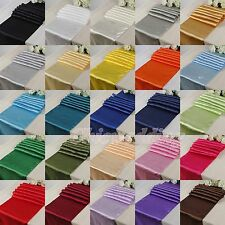 "10/20PCS 12""x108"" 30x275cm Satin Table Runner Wedding Party Decorations Colors"
