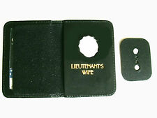 MINI BADGE NYPD LIEUTENANT'S FAMILY MEMBER WALLET FOIL LETTERING GOLD OR SILVER