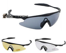 3 Color Airsoft Tactical Sporty UV400 Protection Police Shooting Glasses Black A