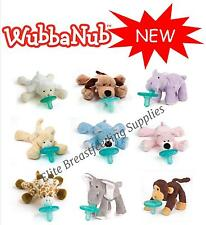 WubbaNub Infant Baby Soothie Dummy Pacifier with Cuddly Plush Animal NEW