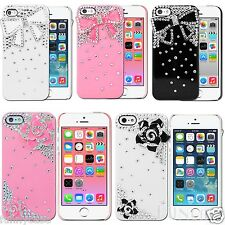 For iPhone 5 5S Cute Bling 3D Bow Ribbon Bowknot Crystal Diamond Case cover