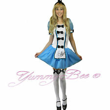 Alice in Wonderland Fancy Dress Costume Ladies Princess Size 6 8 10 12 14 16 18
