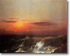 HUGE Heade Sunset at Sea Stretched Canvas Giclee Art Repro Print ALL SIZES
