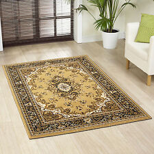 LARGE EXTRA LARGE TRADITIONAL BUDGET BEIGE HEAT SET RUGS MATS CHEAP PRICE