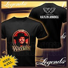 new A TRIBUTE TO WAYLON JENNINGS COUNTRY MUSIC SHORT SLEEVE TEE T-SHIRT S#S-XXL