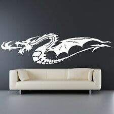 Flying Dragon Fire Breathing Animal Wall Sticker Home Decal Design Transfer A36