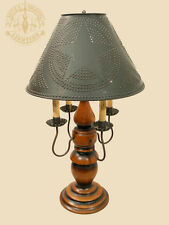 """NEW 28"""" Large Liberty Lamp Colonial Desk Table Light Milk Paint Candelabra Arms"""