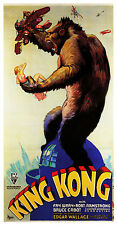"""""""KING KONG""""..Fay Wray Robert Armstrong Classic 1933 Movie Poster A1A2A3A4 Sizes"""