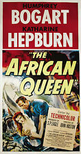 """""""AFRICAN QUEEN""""..Bogart & Katherine Hepburn Classic Movie Poster A1A2A3A4 Sizes"""