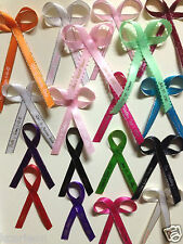 "Bows Made Personalized Ribbons 1/4"" or 3/8"" Wedding/Birthday, Baby Shower Favor"