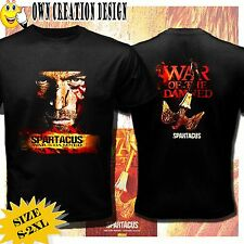 new SPARTACUS WAR OF THE DAMNED HOT TV SHOW ROMANS 2 SIDES T-SHIRTS SIZE S-XXL