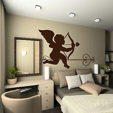 Cupid Heart Arrow Bow Love Valentine Wall Decoration Sticker Gift Bedroom  L20