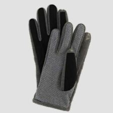ISOTONER smarTouch Touch Screen Compatible Black Heather Grey Gloves NEW Mens L