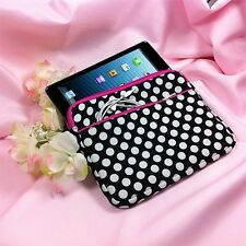 """9"""" ~ 9.7"""" Polka Dot Padded Sleeve Case Cover for Apple iPad & Other Tablet PCs"""