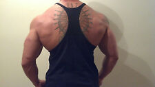 Muscle TankTop Y-Back Stringer Mens bodybuilding vest, racerback 9 Diff Colors