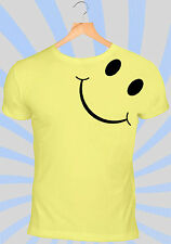 Smiley T-Shirt | 90's Grunge Yellow ACID Rave Face Vintage Retro 80s Tee