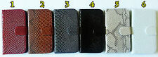 Samsung Galaxy S3 S 3 III i9300 Snake Skin Style Leather Interior Wallet Case